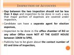 inspection of accounts