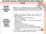major legal provisions related to eem
