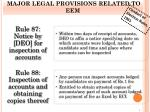 major legal provisions related to eem1