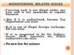 monitoring related issues