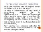not lodging account in manner1