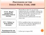 provisions of the indian penal code 1860