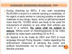 standard operating procedure sop