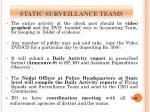static surveillance teams