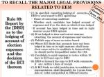 to recall the major legal provisions related to eem