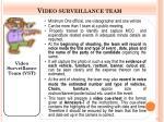 video surveillance team