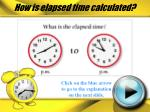 how is elapsed time calculated