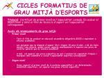 cicles formatius de grau mitj d esports