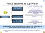 nuevo esquema de supervisi n