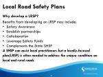 local road safety plans
