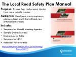 the local road safety plan manual