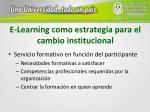 e learning como estrategia para el cambio institucional