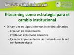 e learning como estrategia para el cambio institucional2