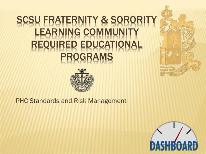 phc standards and risk management n.