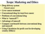 scope marketing and ethics