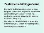 zestawienie bibliograficzne