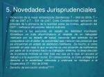 5 novedades jurisprudenciales