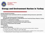 energy and environment review in turkey