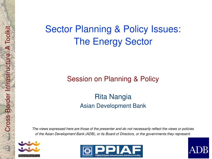 sector planning policy issues the energy sector n.