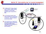 mobile ip survivability due to location management