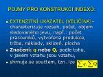 pojmy pro konstrukci index1