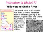volcanism in idaho yellowstone snake river