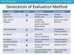 generation of evaluation method