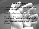 manos libres