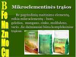 mikroelementin s tr os