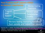 how program staff support relates to mentors experiences