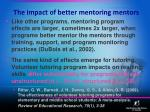 the impact of better mentoring mentors