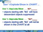 don t explode show in chart