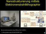 nanostrukturierung mittels elektronenstrahllithographie