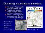 clustering expectations models