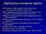 highlighting overdense regions