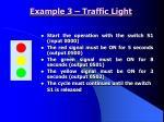 example 3 traffic light