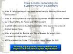 atlas delta capabilities to support human spaceflight
