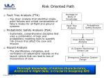 risk oriented path