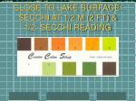close to lake surface secchi at 1 2 m 2 ft 1 2 secchi reading