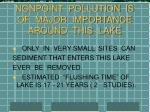 nonpoint pollution is of major importance around this lake