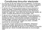 constituirea birourilor electorale