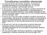 constituirea consiliilor electorale