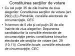constituirea sec iilor de votare