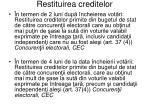 restituirea creditelor