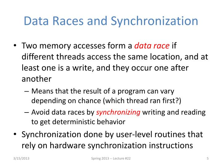 Data Races and Synchronization