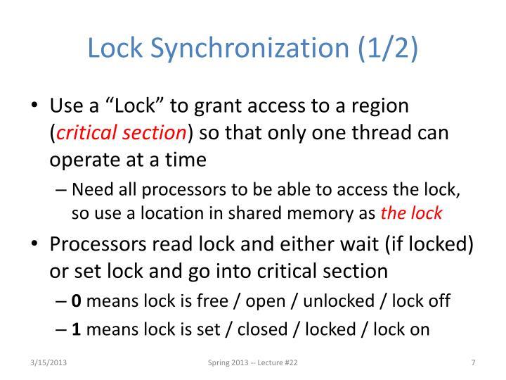 Lock Synchronization (1/2)