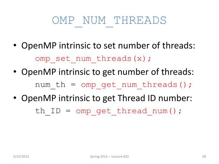 OMP_NUM_THREADS