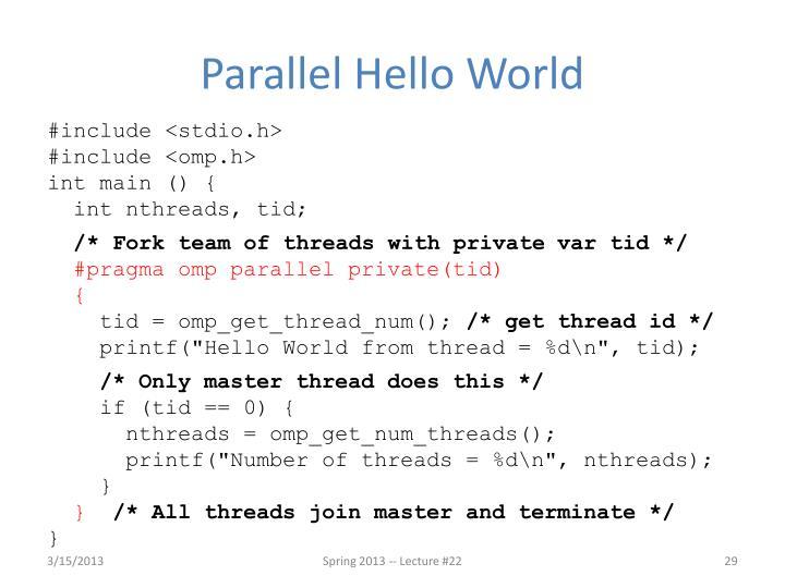 Parallel Hello World