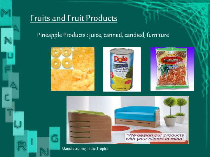 Fruits and Fruit Products