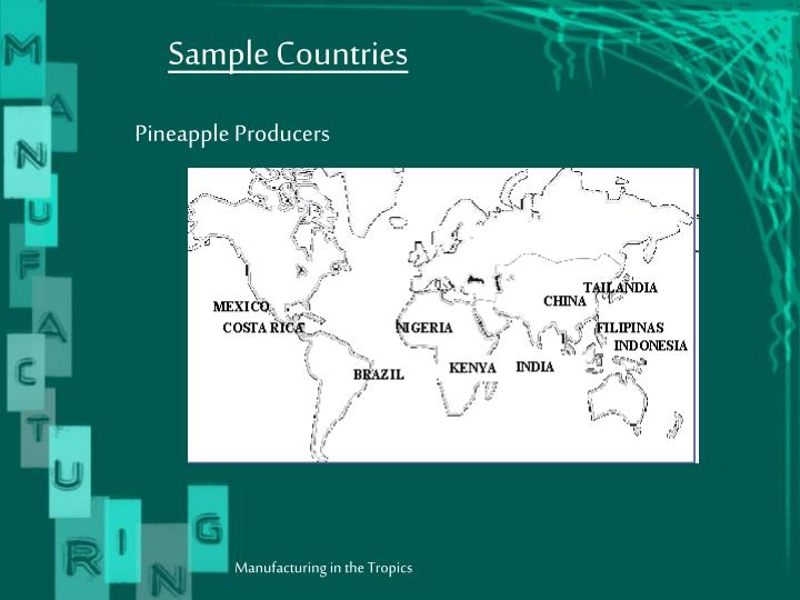 Sample Countries